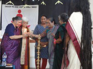 Activist women lighting the lamp at Tantidhatri