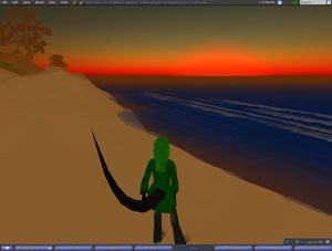 First/Second Life Sunset
